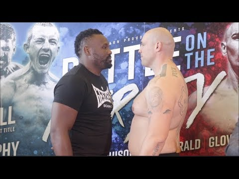 DERECK CHISORA RETURNS FIRST EVER WEIGH IN AS A EDDIE HEARN FIGHTER / CHISORA v FLIPOVIC