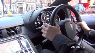Crazy Lamborghini Aventador Ride - Brutal Accelerations, Downshifts and Revs in the City