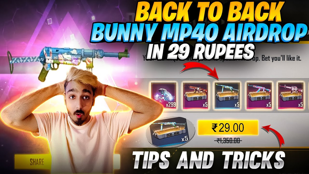 First Time Got Bunny MP40 Permanent ❤️ मुझे मिल गया Bunny mp40 Airdrop || Free Fire