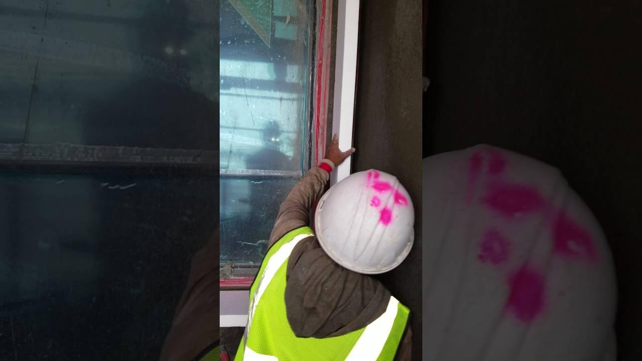 Como hacer un marco de ventana.. fácil , resistente y económico ...