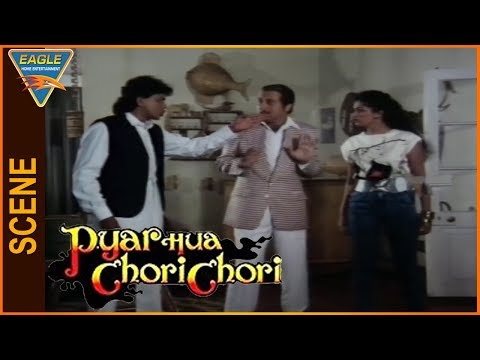 Pyar Hua Chori Chori Hindi Movie || Mithun Chakraborty Warning To Gouthami || Eagle Entertainment Of