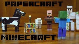 Caballo de minecraft en papercraft