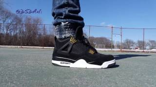 "AIR JORDAN 4 ""ROYALTY"" REVIEW & ON FEET!"