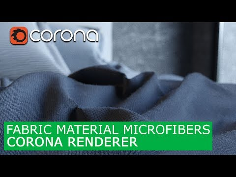 Fabric material with Microfibers Corona Renderer & 3Ds Max | Tutorials for beginners Cloth