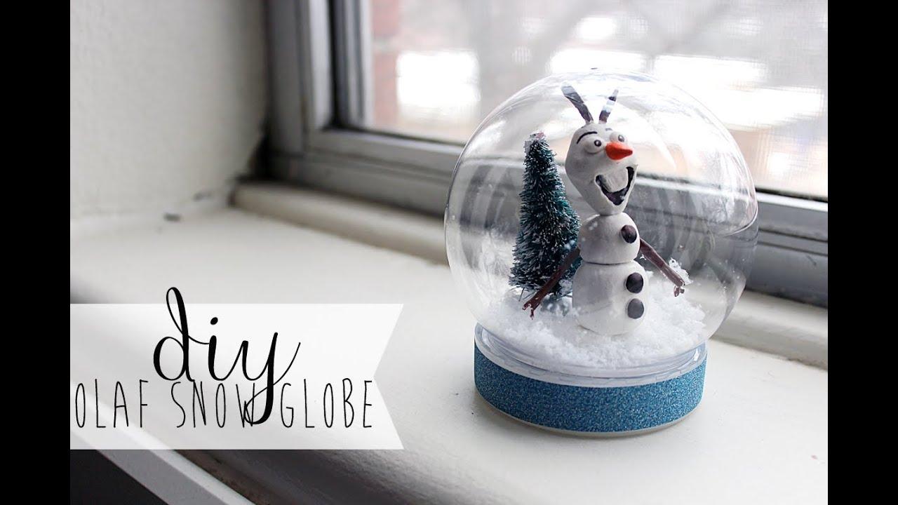 DIY Waterless Frozen Olaf Snowglobe YouTube