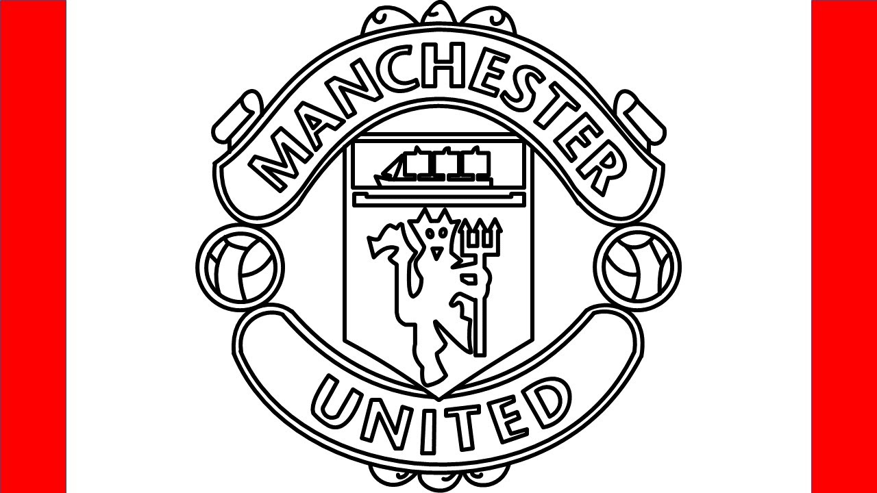 How To Draw Manchester United Logo Step By Step Drawing Youtube