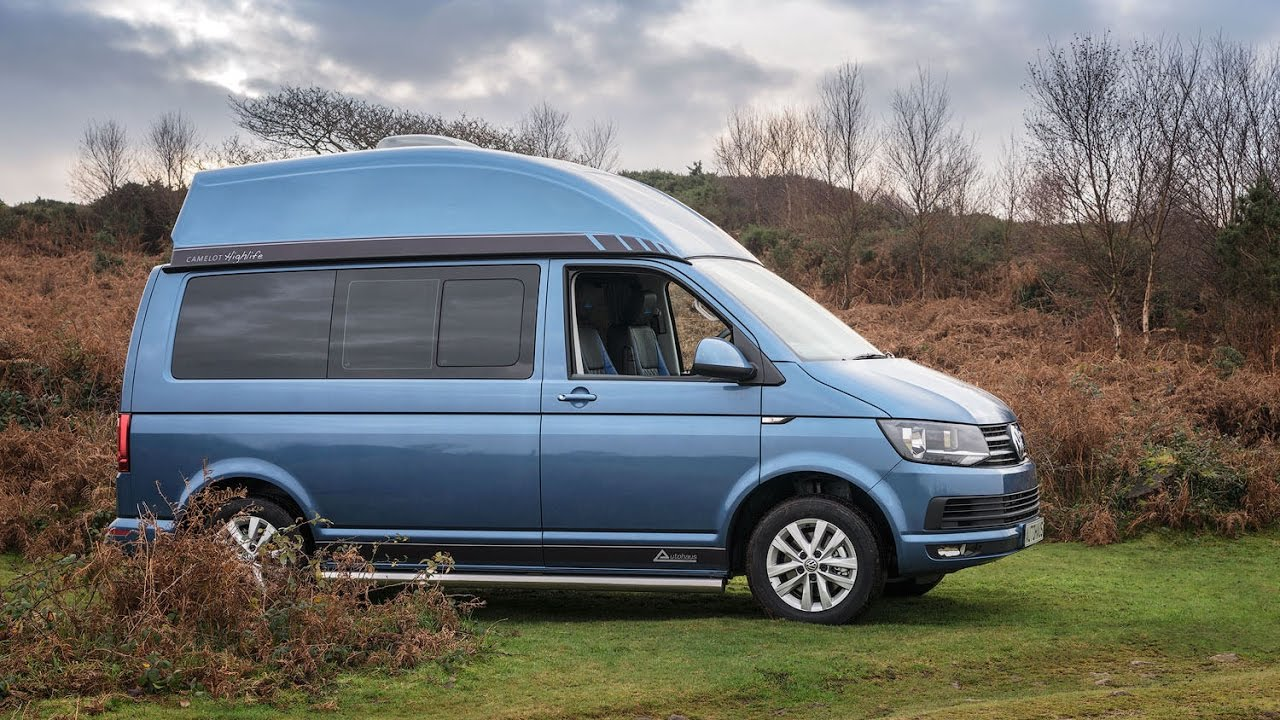 vw t6 campervan acapulco blue metallic blue leather autohaus 39 camelot 39 youtube. Black Bedroom Furniture Sets. Home Design Ideas