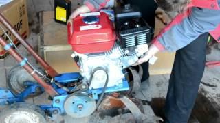 Установка двигателя 4 х тактного на культиватор Крот