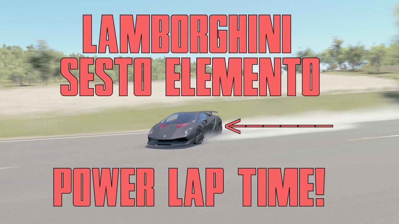 Forza Horizon 3 Lamborghini Sesto Elemento Lap Time Youtube