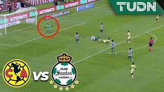 ¡Segundo aviso de Roger! | América 0 - 0 Santos | Liga Mx - AP 19 - J17 | TUDN