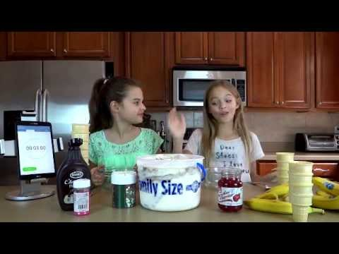 Ice Cream Sundae Tower Challenge with Keely and Isabel Myers