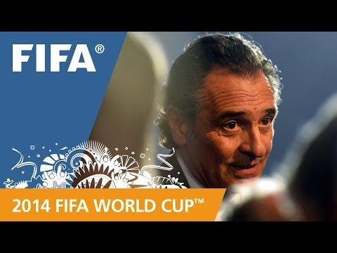 Italy's Cesare PRANDELLI Final Draw reaction (Italian)