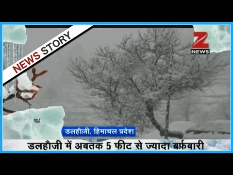 Watch: Heavy snowfall in Kashmir and other hilly areas!