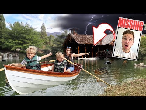 DAD IS MISSING! Exploring Abandoned BOATHOUSE for Hidden Clues!!