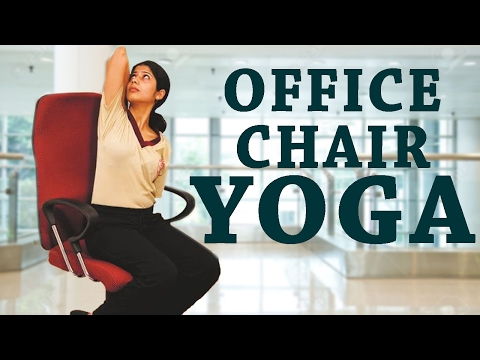 Simple Yoga For Office Workers| 5 Simple Office Yoga Poses for Back Pain, Neck and Shoulder