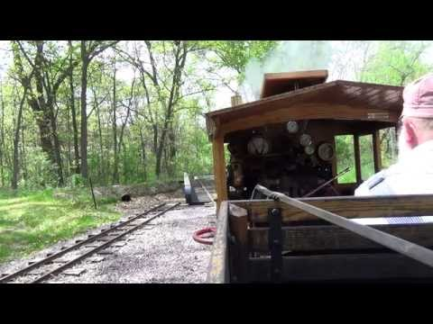 """Live Steam 15"""" Gauge view from Locomotive Cab Riverside & Great Northern Railway Wisconsin Dells, WI"""