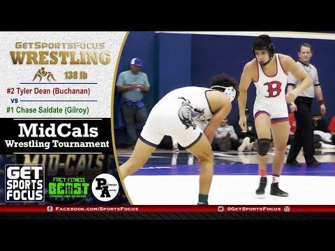 #1 Chase Saldate Vs #2 Tyler Dean | 2019 MidCals 138lb Finals