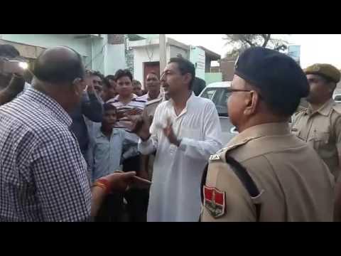 Maharaj of bharatpur vishvabhar singh talking with. District magistrate about jat aarakshan