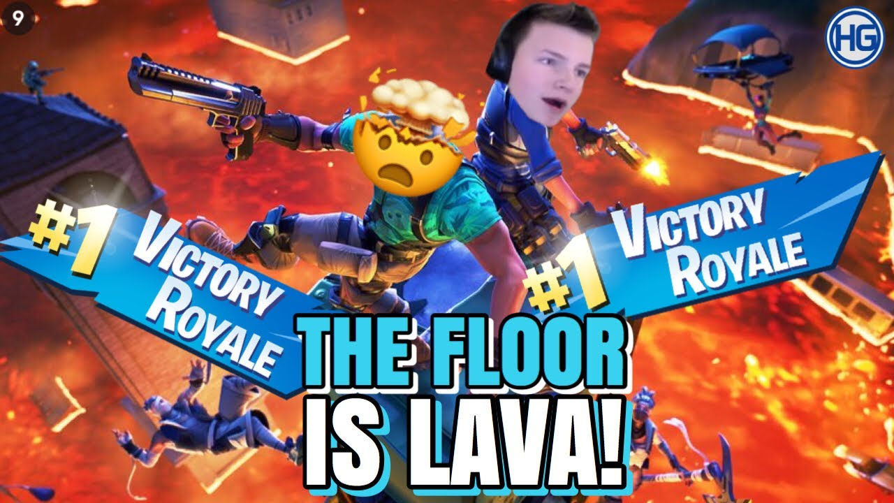 Insane The Floor Lava Challenge Fortnite Bakken Leave Gamet Youtube