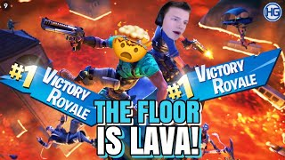*INSANE* The FLOOR is LAVA CHALLENGE i FORTNITE! | Rør bakken = Leave Gamet!