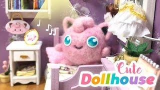 DIY Cute Toy Dollhouse Room - Miniature DIY with Pokémon Theme!