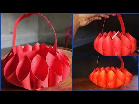 Easy To Make Craft Pepar Basket _home Decorations Idea Nusrat Diy Craft