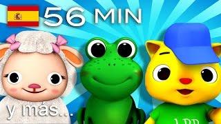Diez animalitos | Y muchas más canciones infantiles | ¡56 min de LittleBabyBum!