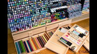 Craft Room Tour: My Marker Wall - Pen & Pencil Storage including copies and prisma pencils