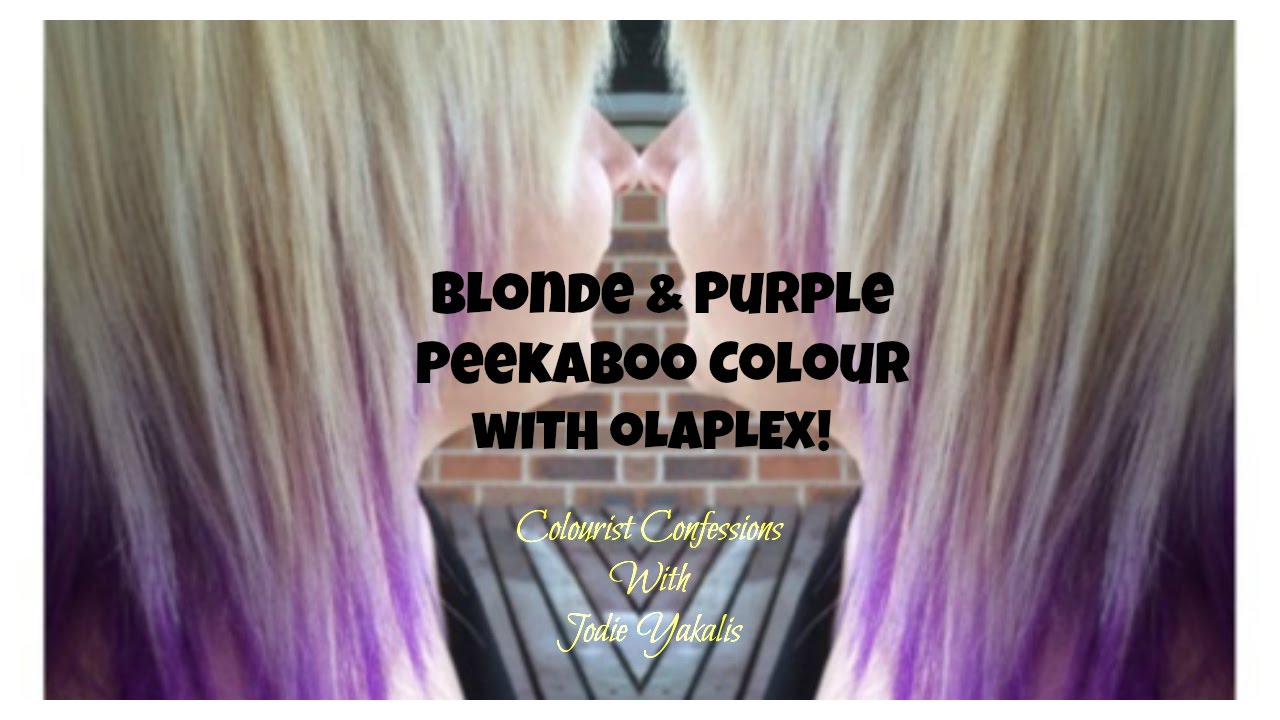 Blonde And Purple Peekaboo Colour With Olaplex Youtube