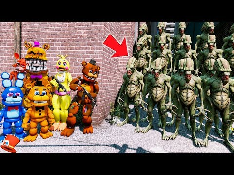 CAN THE ANIMATRONICS DEFEAT THE EVIL ALIEN ARMY? (GTA 5 Mods FNAF Kids RedHatter) thumbnail