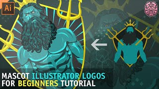 Tutorial: Mascot Logos For Beginners | Illustrator CC by Qehzy