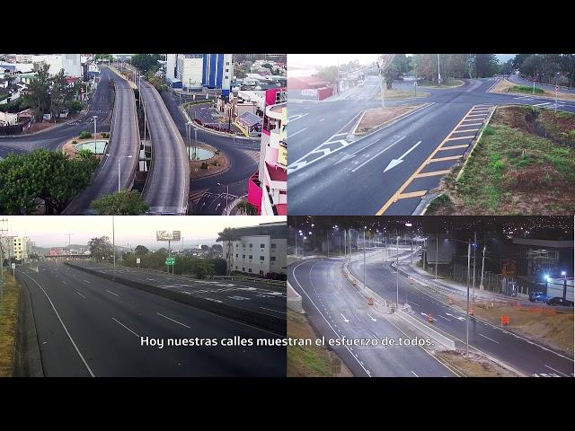Calles de Costa Rica vacías