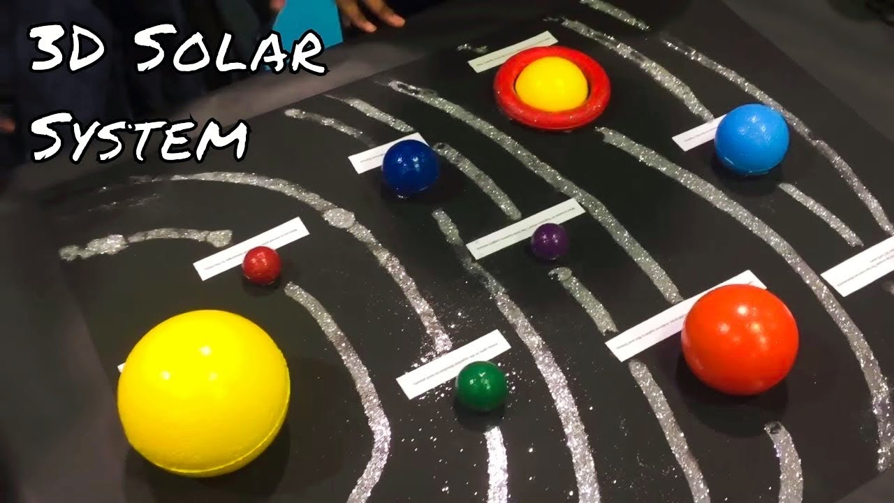 How to make 3D Solar System Project for Kids YouTube