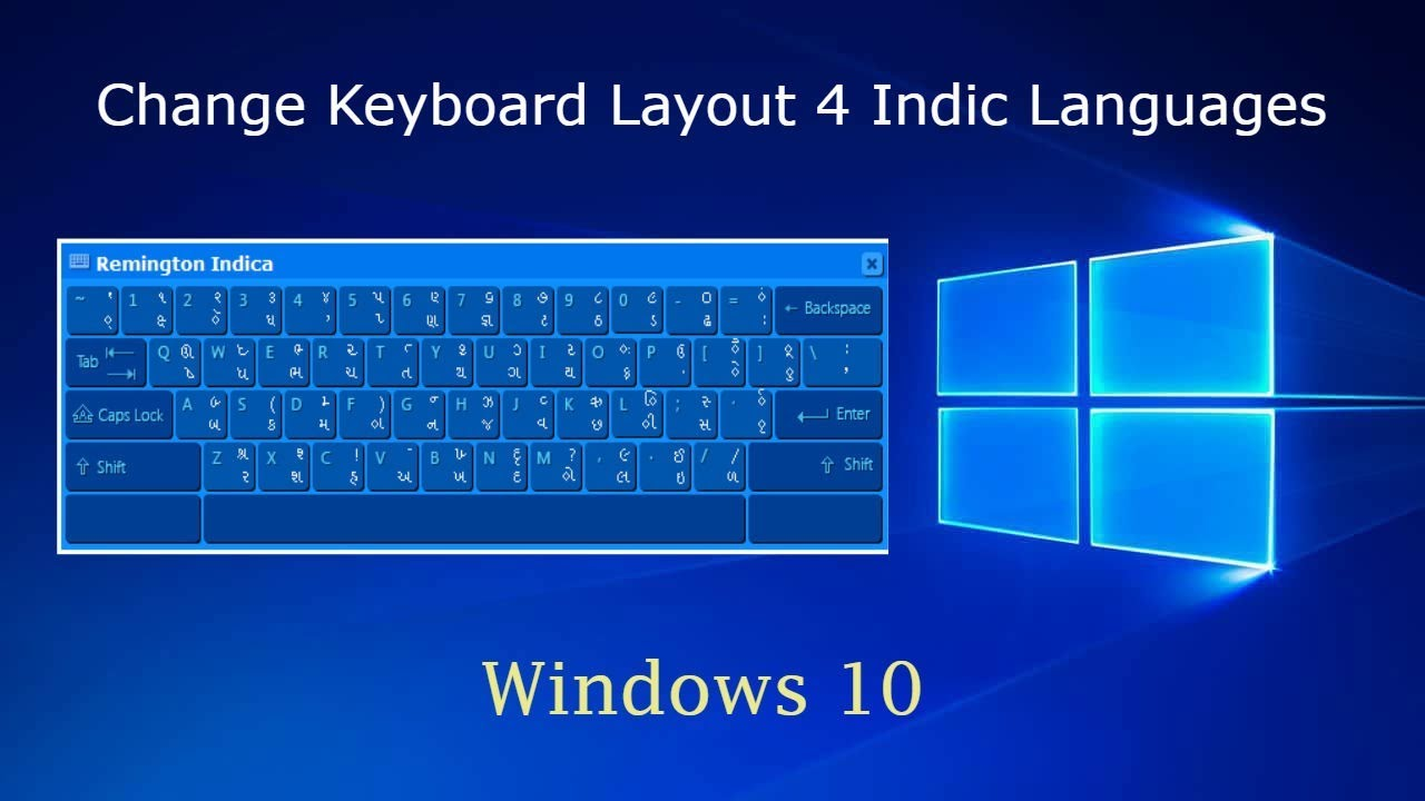 Change Keyboard Layout for Indic Languages on Windows 10