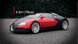 """""""Bugatti Veyron"""" - Paper Supercraft"""