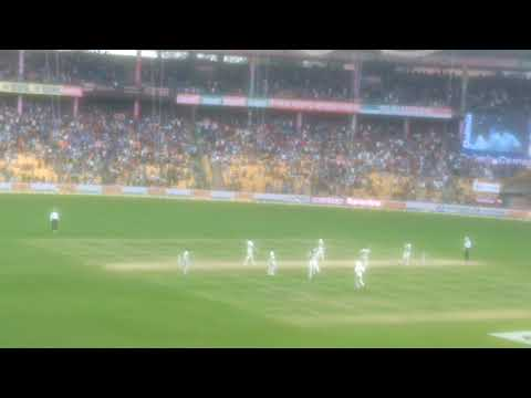 India vs Australia Test Match at M Chinnaswamy Stadium, Bangalore. India winning moment