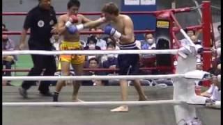 Knockout2_小野智史(伊原)VSローマ ロデギン(横須賀太賀ジム)の試合.