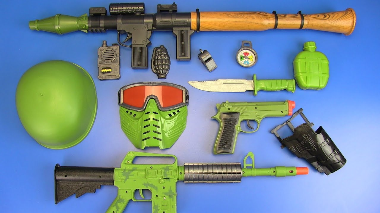 Toy Guns Toys Military Toys Set For Kids Video For Kids Youtube