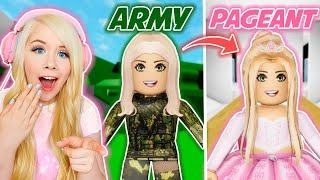 ARMY GIRL TO PAGEANT QUEEN IN BROOKHAVEN! (ROBLOX BROOKHAVEN RP)