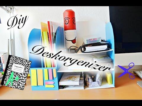 how to deskorgenizer schreibtisch organisation simple diy tutorial youtube. Black Bedroom Furniture Sets. Home Design Ideas