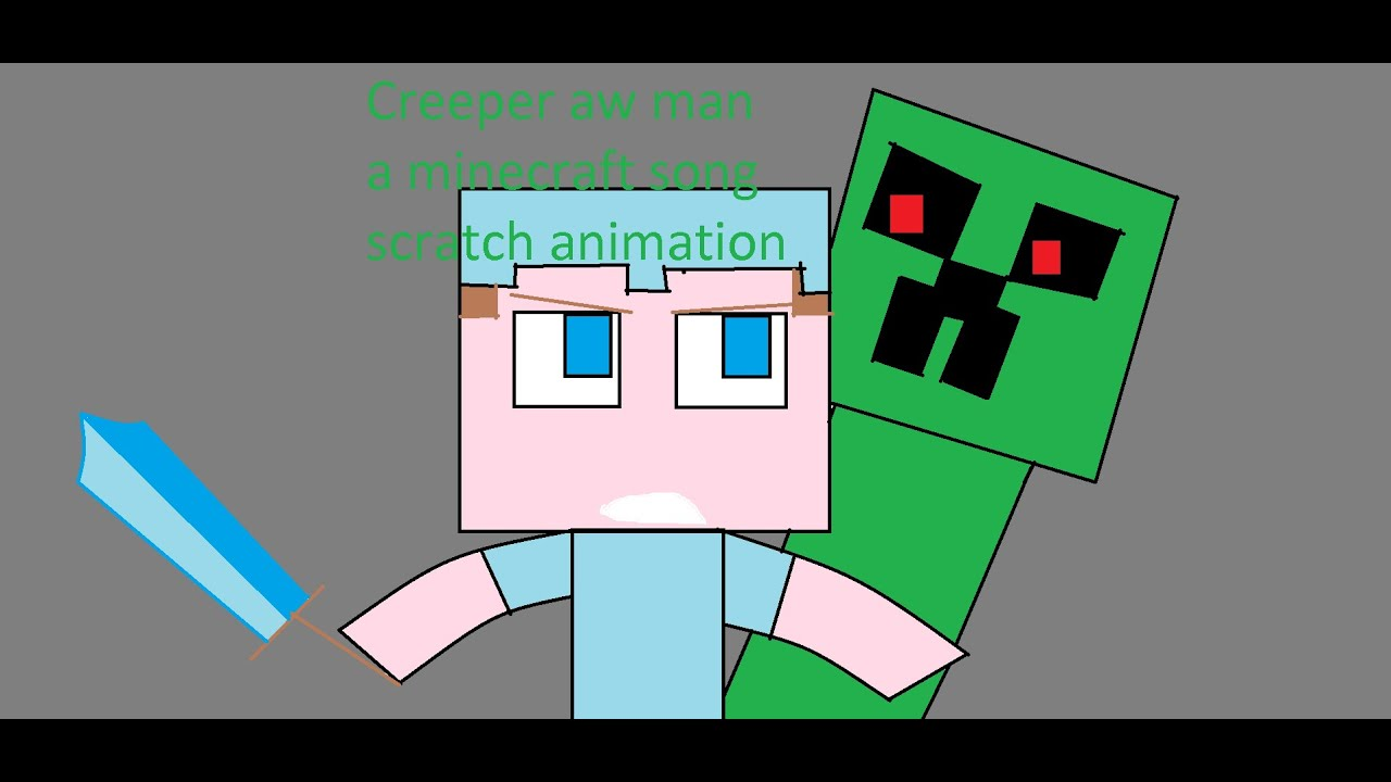 """""""Ravenge, Creeper aw Man"""". Song by Capitan Sparkles. Scratch Animation"""