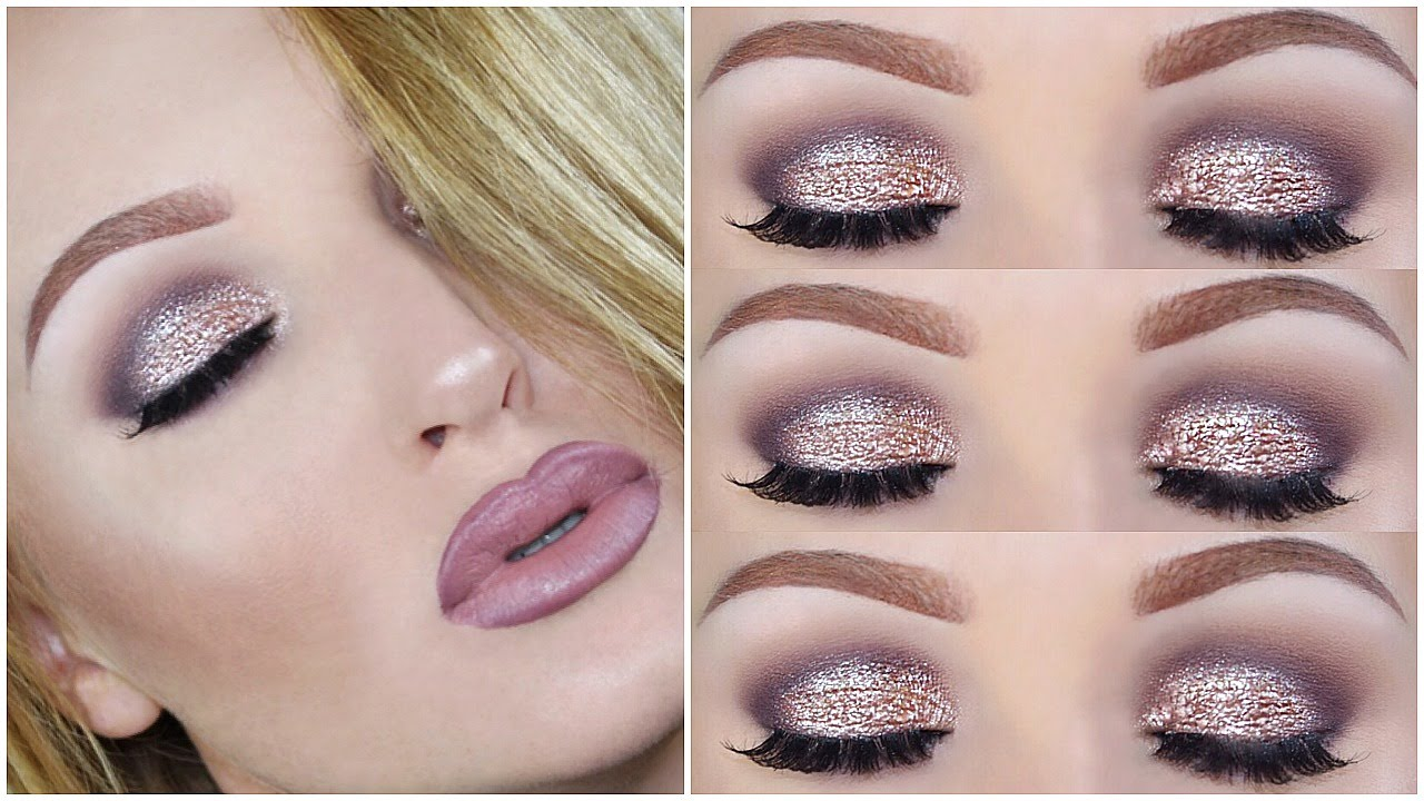 Valentines Day Makeup Tutorial Rose Gold Ombre Lips
