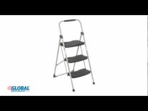Werner 3 Step Steel Folding Step Ladder Youtube