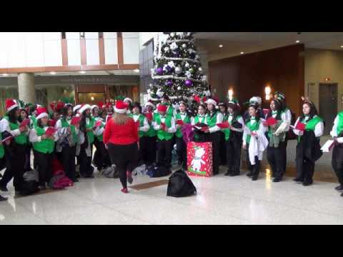 New Lenox Illinois >> Gompers Jr High Carolers visit Silver Cross Hospital - YouTube