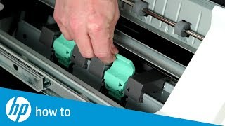 Replace Staple Cartridge in the Booklet Maker   HP LaserJet MFP E82540, E82550, E82560 Series