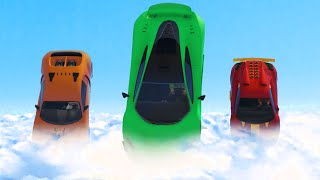 FLYING CARS IN THE CLOUDS! (GTA 5 Funny Moments)