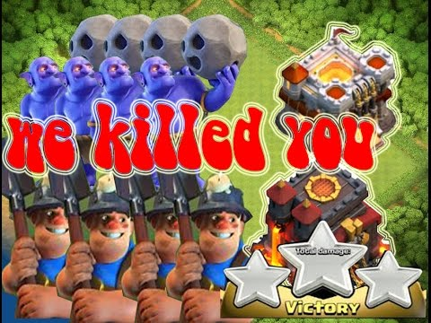 3 Star In War Th11 Th10 With All Strategy = CLASH OF CLAN