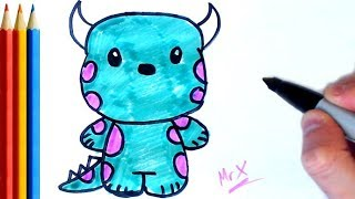 How to Draw Sullivan (monsters inc) Step by Step Tutorial For Kids