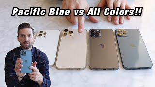 iPhone 12 Pro Max PACIFIC BLUE vs EVERY COLOR!! (Is this the BEST IPHONE 12 PRO COLOR??)