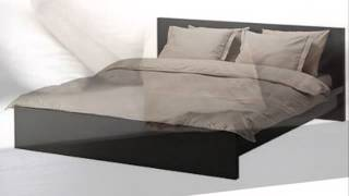 Malm Black Brown Queen Size Bed Frame Height Adjustable